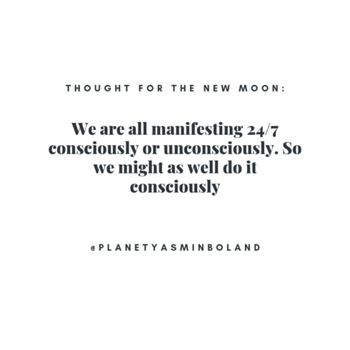 Here's an idea for this week's New Moon….
