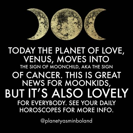 Today the planet of love